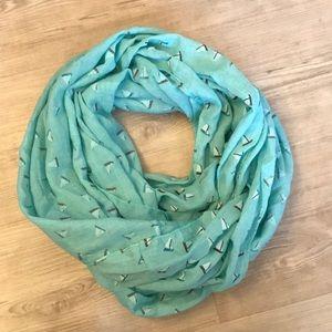 Sailboat print infinity scarf ⛵️